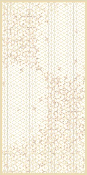麻の葉ちらし 結び風 タニハタ AC-102-TC 組子