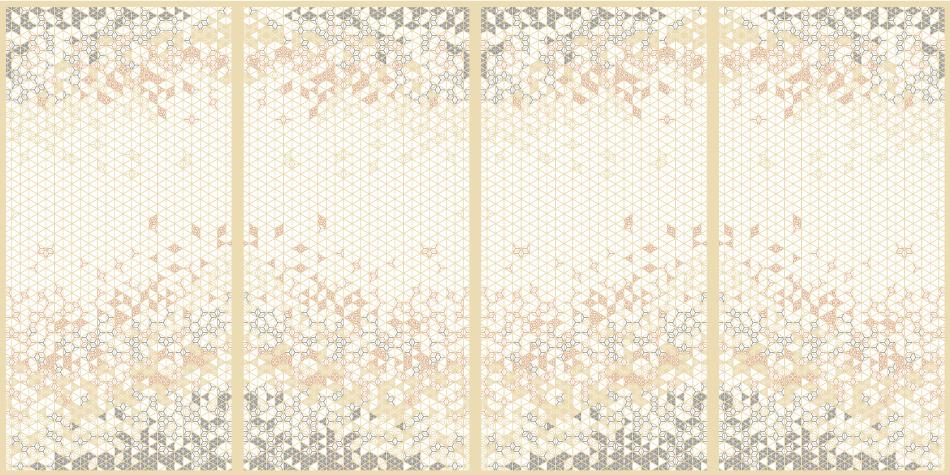 麻の葉ちらし 花かすみ タニハタ AC-104-TA 組子 インテリア装飾
