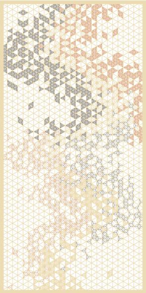 麻の葉ちらし 天の川 タニハタ AC-105-TA 組子 インテリア 装飾