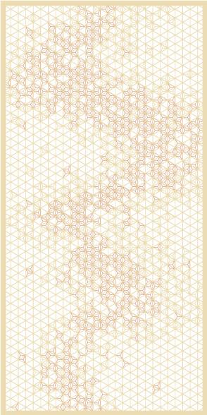 麻の葉ちらし 天の川 タニハタ AC-105-TC 組子 インテリア 装飾