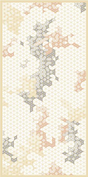 麻の葉ちらし ちぎれ雲 タニハタ AC-106-TA 組子 インテリア 装飾