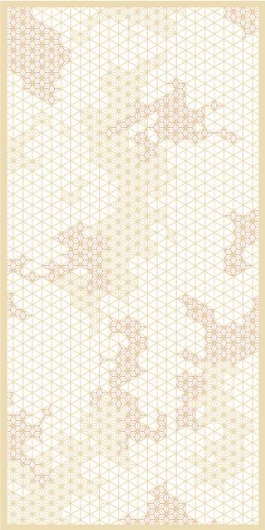 麻の葉ちらし ちぎれ雲 タニハタ AC-106-TC 組子 インテリア 装飾