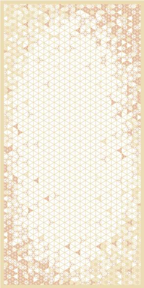 麻の葉ちらし 雪あかり タニハタ AC-108-TB 組子 インテリア 装飾