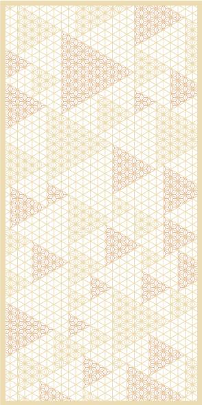 麻の葉ちらし 水無月 タニハタ AC-112-TC 組子 インテリア 装飾
