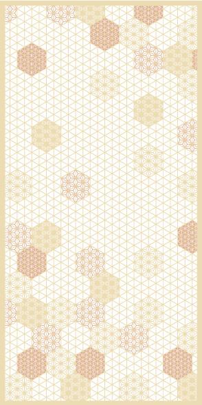 麻の葉ちらし てまり雪 タニハタ AC-113-TB 組子 インテリア 装飾