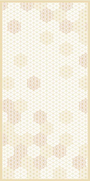 麻の葉ちらし てまり雪 タニハタ AC-113-TC 組子 インテリア 装飾
