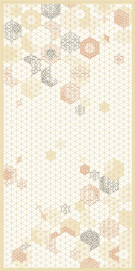 組子 麻の葉ちらし 桜ぼんぼり