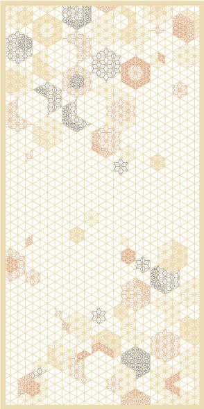 麻の葉ちらし 桜ぼんぼり タニハタ AC-114-TA 組子 インテリア