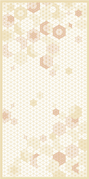 麻の葉ちらし 桜ぼんぼり タニハタ AC-114-TB 組子 インテリア 装飾
