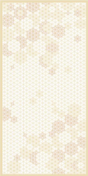 麻の葉ちらし 桜ぼんぼり タニハタ AC-114-TC 組子 インテリア 装飾