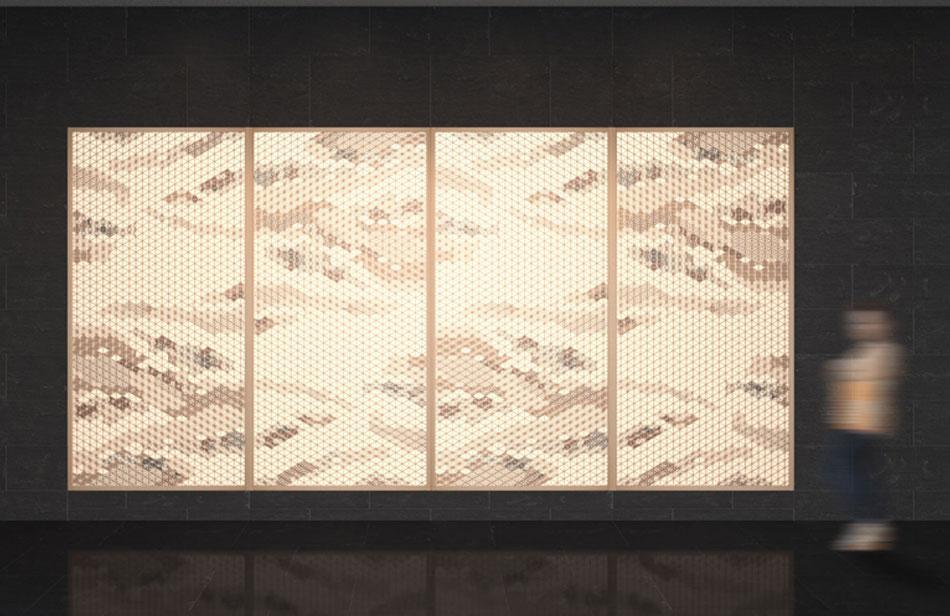 麻の葉ちらし みず影 タニハタ AC-116-TA 組子 CG