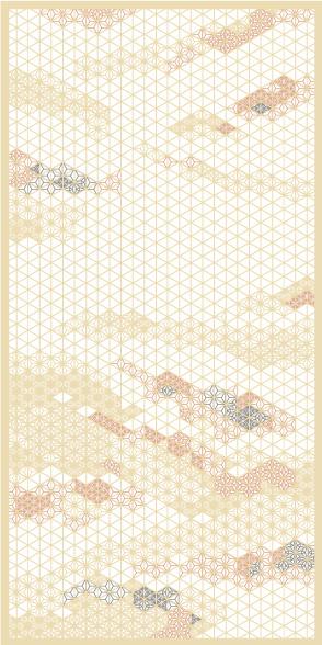麻の葉ちらし みず影 タニハタ AC-116-TA 組子 インテリア 装飾