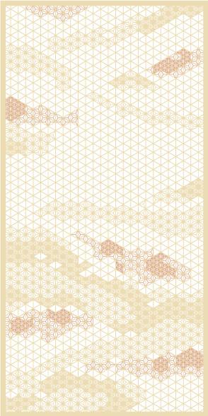 麻の葉ちらし みず影 タニハタ AC-116-TB 組子 インテリア 装飾