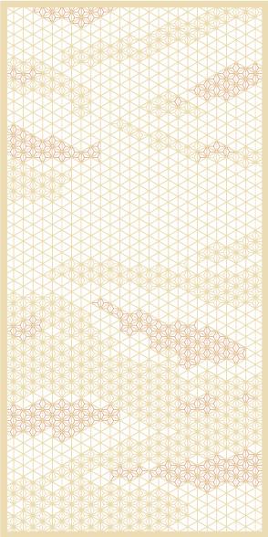 麻の葉ちらし みず影 タニハタ AC-116-TC 組子 インテリア 装飾