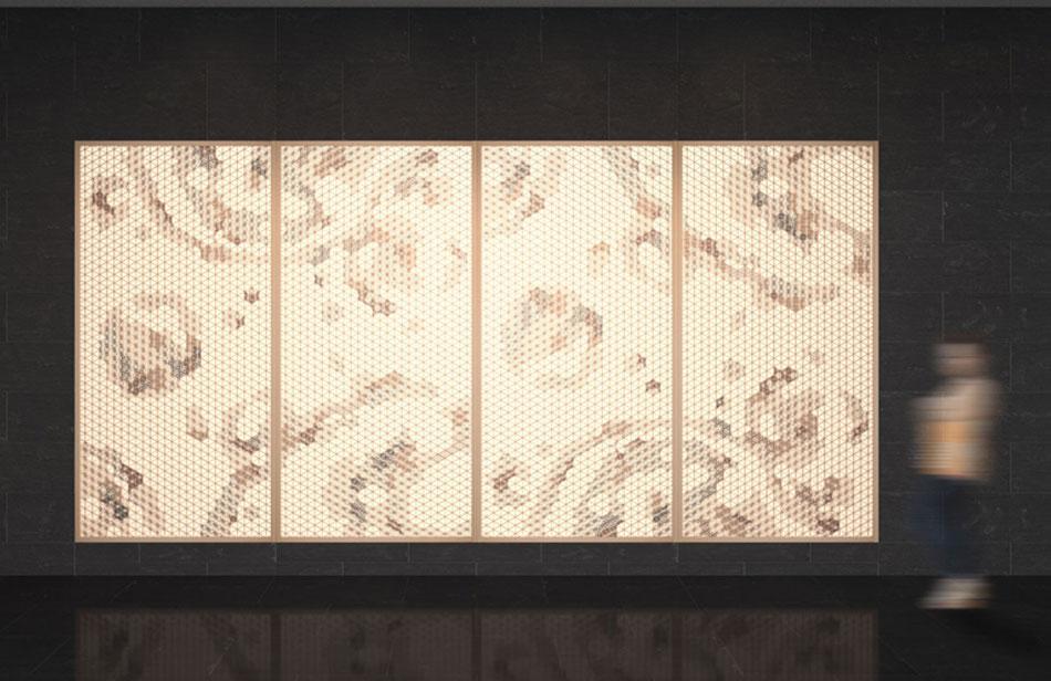麻の葉ちらし 地動 タニハタ AC-118-TA 組子CG