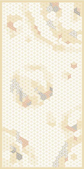麻の葉ちらし 天動 タニハタ AC-117-TA 組子 インテリア 装飾