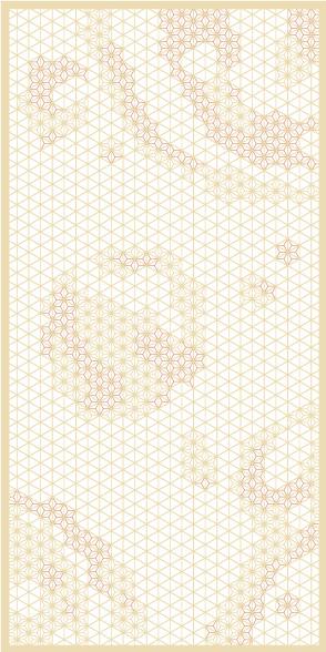 麻の葉ちらし 天動 タニハタ AC-117-TC 組子 インテリア 装飾