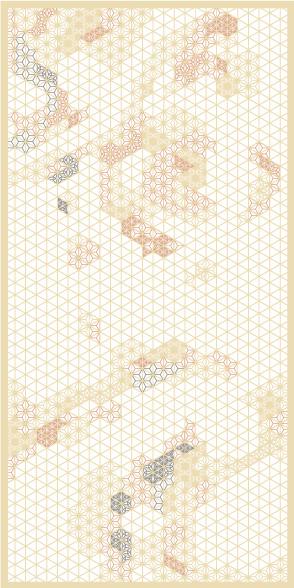 麻の葉ちらし 地動 タニハタ AC-118-TA 組子 インテリア 装飾