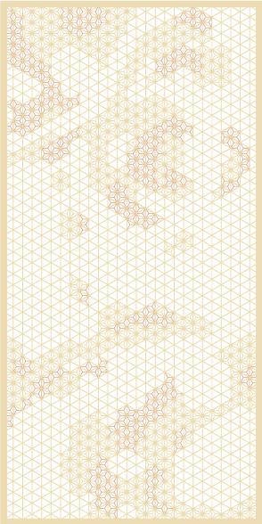 麻の葉ちらし 地動 タニハタ AC-118-TC 組子 インテリア 装飾