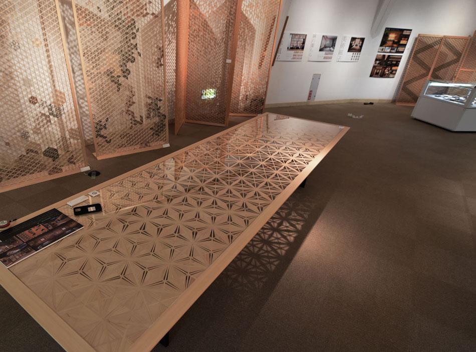 組子屋の仕事展 タニハタ 組子テーブル