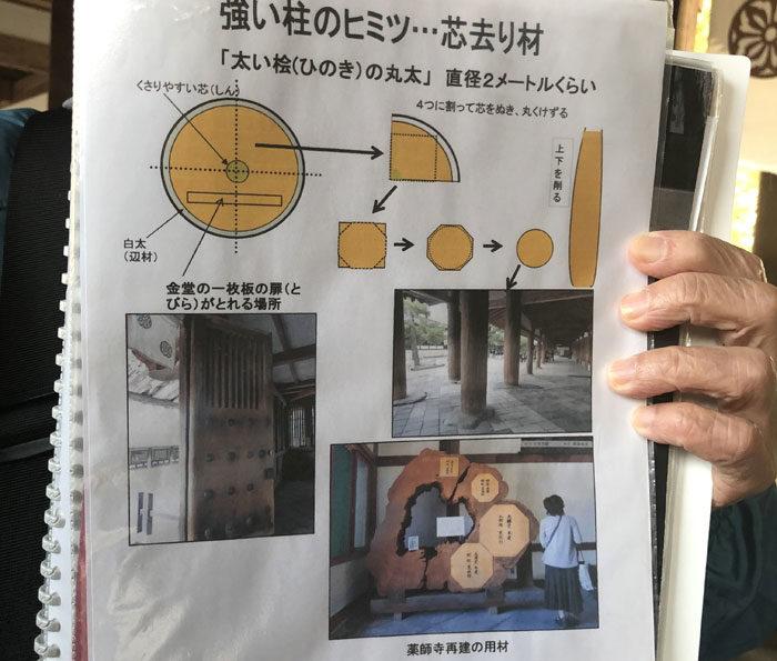 法隆寺見学 タニハタ 組子
