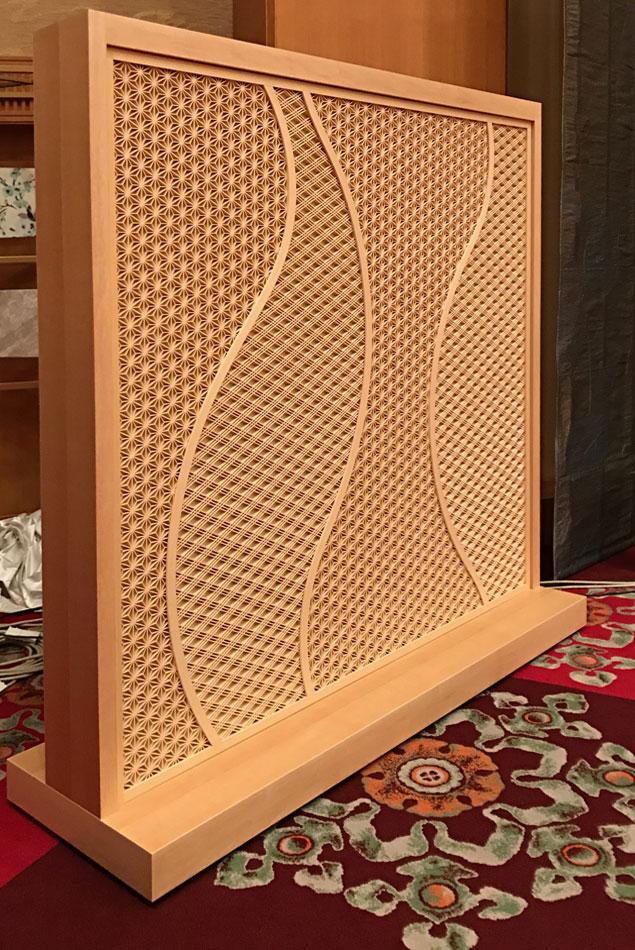 ホテルオークラ 組子 麻の葉