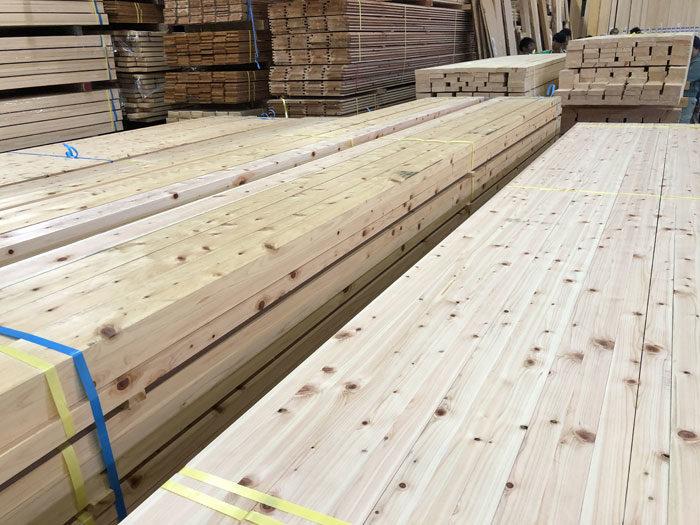組子木材仕入 檜材