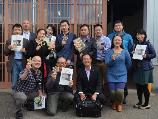 中国・四川省成都から組子製作体験に来られました。