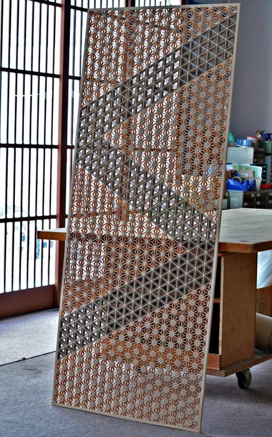 三種組分柄の組子障子 木製建具 障子戸