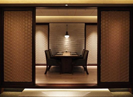 ホテル「ザ・リッツ・カールトン京都」組子設置写真