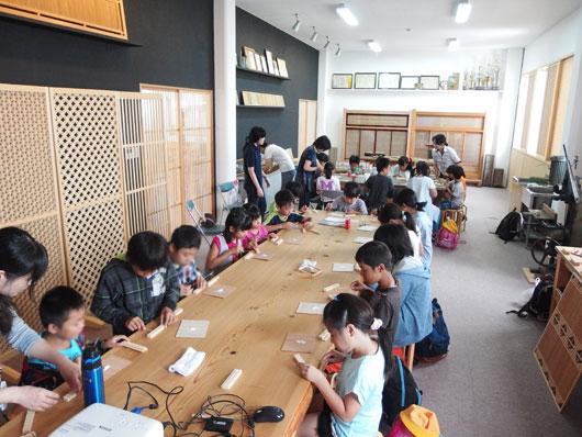 小学生の組子体験 タニハタ