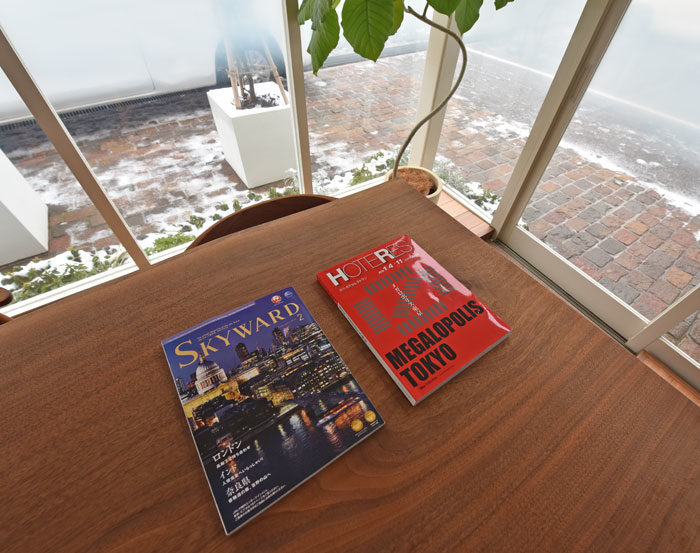 JALの機内誌「SKY WARD」に組子欄間を掲載いただきました