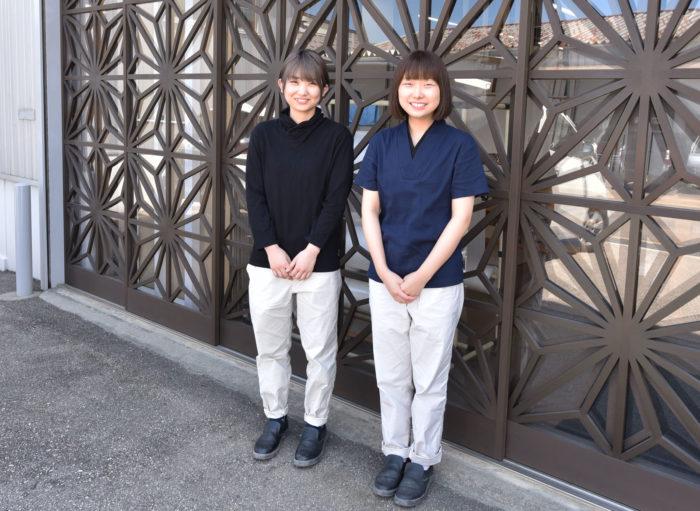 組子職人の作業服を滋賀県の伝統産業「高島ちぢみ」で製作