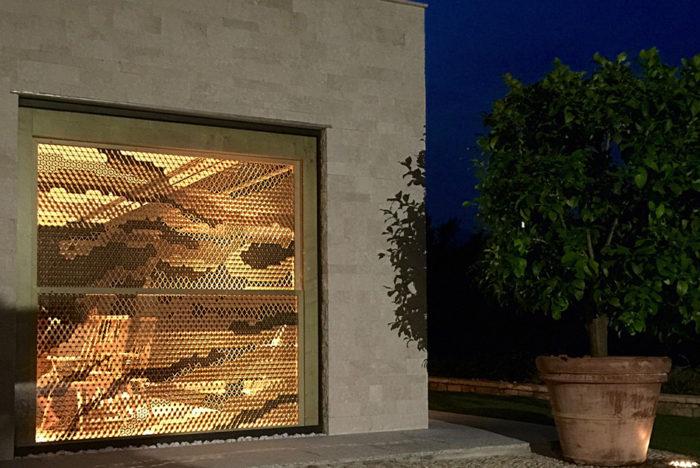 組子とガラスの組み合わせ 施工写真3