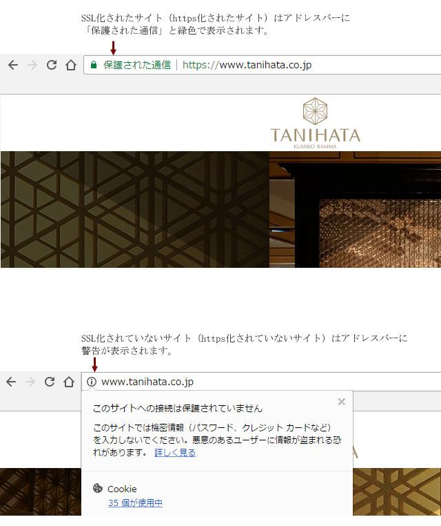 タニハタのWebサイトがHTTPS化に対応