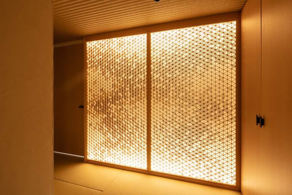 タニハタ 麻の葉ちらし 銀座タワーマンション 組子