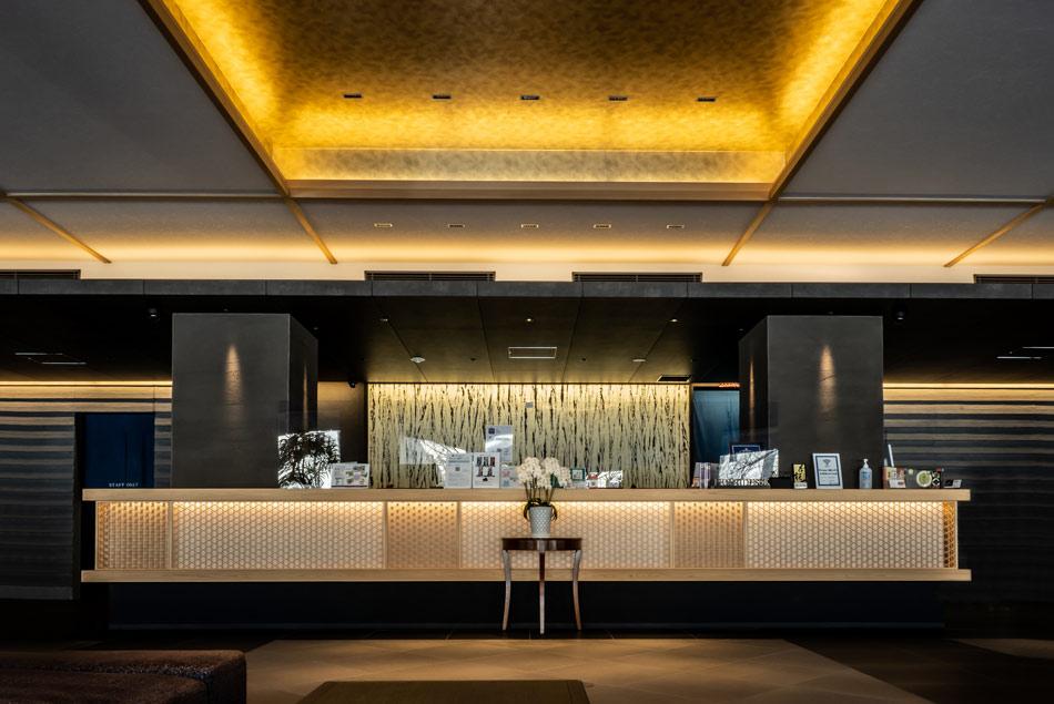 ホテル本能寺 組子 カウンター設置