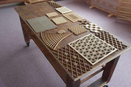 木製建具 職人 工場 組子文様 組子欄間 株式会社タニハタ 富山