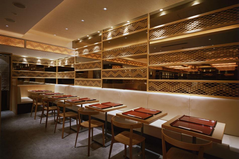 木製建具 店舗 shop レストラン 組子欄間 和風間仕切り 株式会社タニハタ