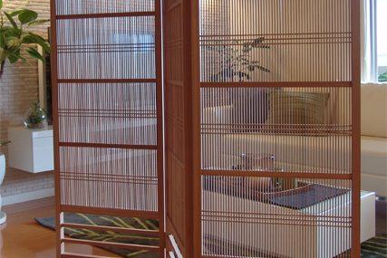 木製建具 住宅 千本格子衝立 株式会社タニハタ 富山