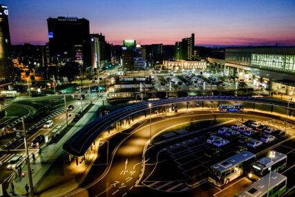富山駅前 夜景