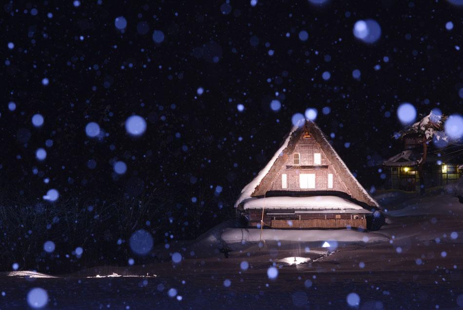五箇山の冬